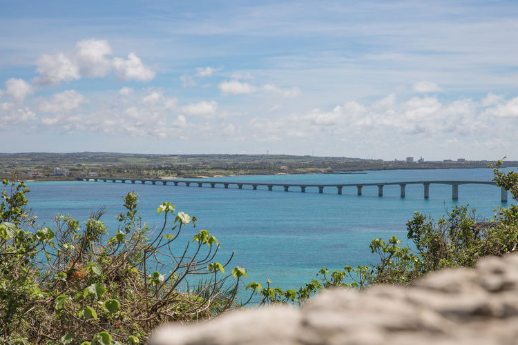 Happiness Holiday Okinawa Travel Vacations Architecture Beauty In Nature Bridge Bridge - Man Made Structure Built Structure Cloud - Sky Connection Day Growth Miyakojima Nature No People Outdoors Plant River Scenics Sky Summer Turquoise Water