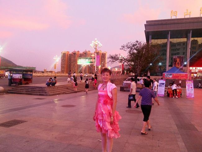 Lady Woman Rosy In The Street Dusk Sky My Mother Beautiful People Scenery Town At Dusk Colour Of Life