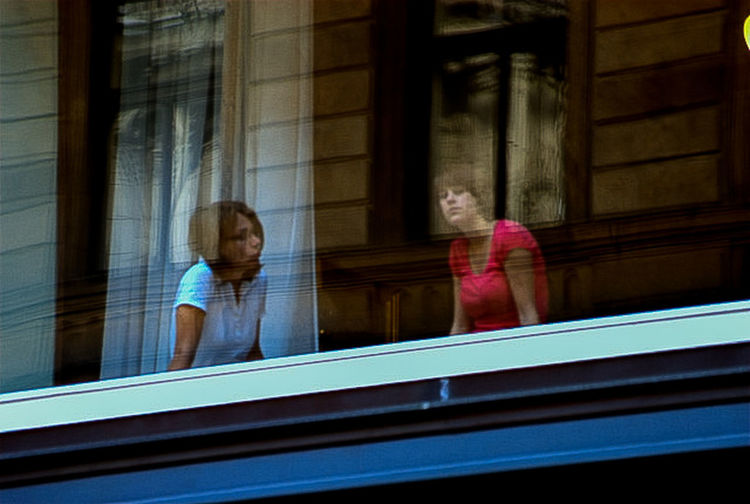 A Moment In Time Usmforyou Window Women Indoors  Architecture Reflection Adult People Real People Glass - Material Day Looking Females Mirror Headshot EyeEmNewHere Moments Of Happiness