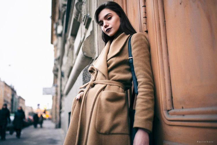 City Adult Young Adult Adults Only Waiting People Depression - Sadness Warm Clothing Human Body Part Beautiful People Outdoors City Life Portrait Only Women One Person One Woman Only Young Women Day Winter Women