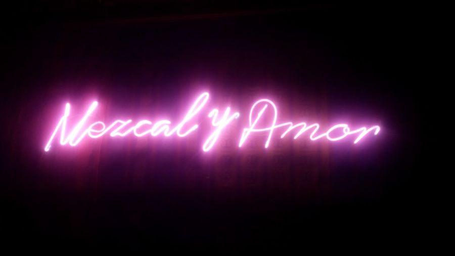Neon Night Mezcaleria  Mexico City Pink Photography