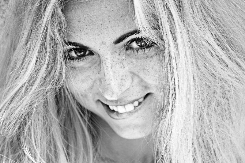 Close-Up Of Smiling Woman