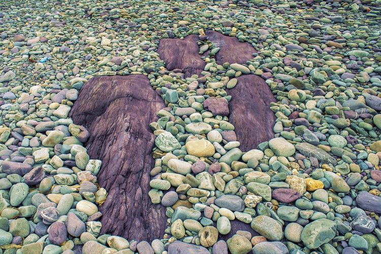 Ireland Ireland🍀 Land Nature Beach Day Green Rocks Lanscape Rocks Water Wet Rocks