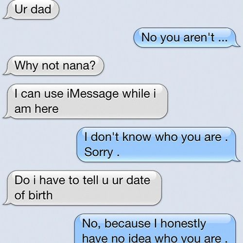 Creep... He is not my Dad .. Creepytext Notmydad Haha