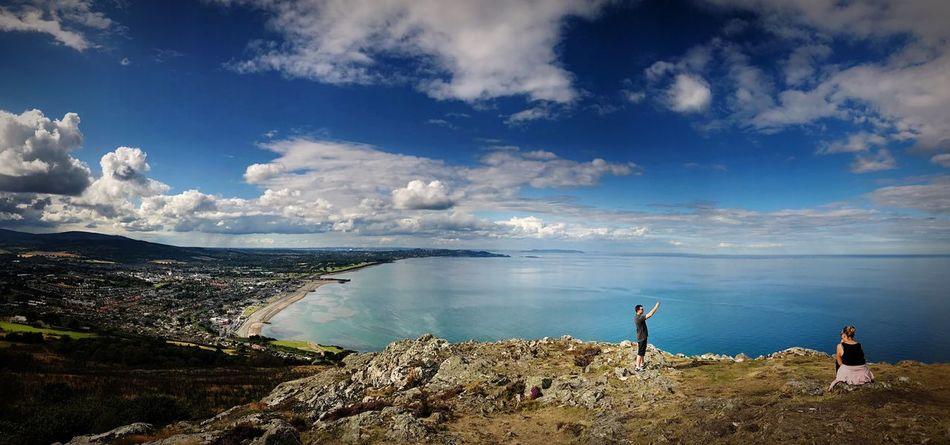 Sky Nature Water Sea Tranquil Scene Cloud - Sky Horizon Over Water Landscape Mountain Vacations Ireland Bray, Ireland Blue