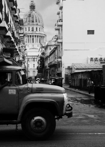 Building Exterior Architecture Built Structure Street Car Transportation Land Vehicle Mode Of Transport City Road Outdoors Day Sky No People Travel Destinations Street Photography Capitolio Cuba Cuba Habana Havanna, Cuba Havana Road City Architecture
