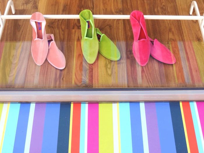 Shop Around The Corner Colours Slippers Stripes Shadows And Shades Millennial Pink
