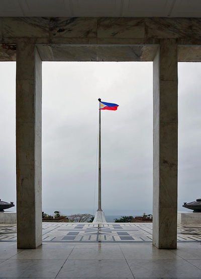 Architectural Column Architecture Flag Flag Pole Mount Samat No People Outdoors Overcast Patriotism Philippine Flag Philippines