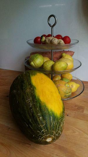 Fruit watermelon lemon papaya