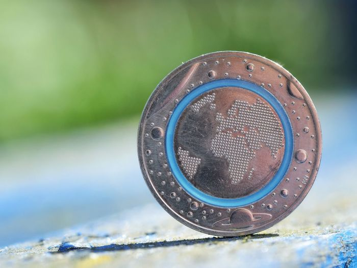 5 Euro Coin 2016 Germany 5 Euro Five Euro Detail 2016 Finance Coins EUR Finance And Economy Currency Multi Colored Colorful Perspective Macro Close-up European Union Currency European Union Coin Geometric Shape Money Coin European Union Euro Note Economy