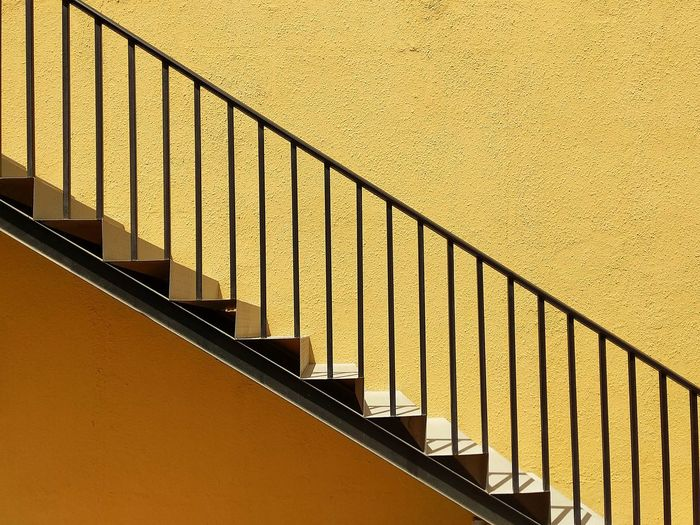 diagonally sublime Textures and Surfaces Simple Minimalism Minimal Steps And Staircases Full Frame Staircase Steps Railing Architecture Built Structure Sky Close-up Hand Rail Stairs Stairway Wall The Architect - 2018 EyeEm Awards