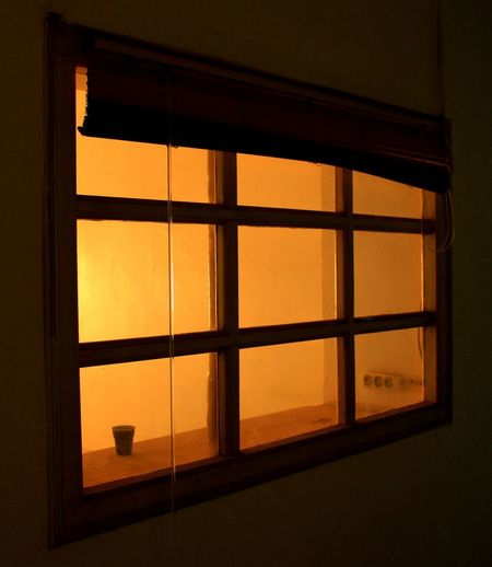 Contrast And Lights Loneliness Architecture Built Structure Close-up Contrast Day Geometric Shape Glass Glass - Material Indoors  Loneliness In A Picture Nature No People Orange Color Shadow Silhouette Sky Sunlight Sunset Transparent Wall - Building Feature Window Window Frame Wood - Material