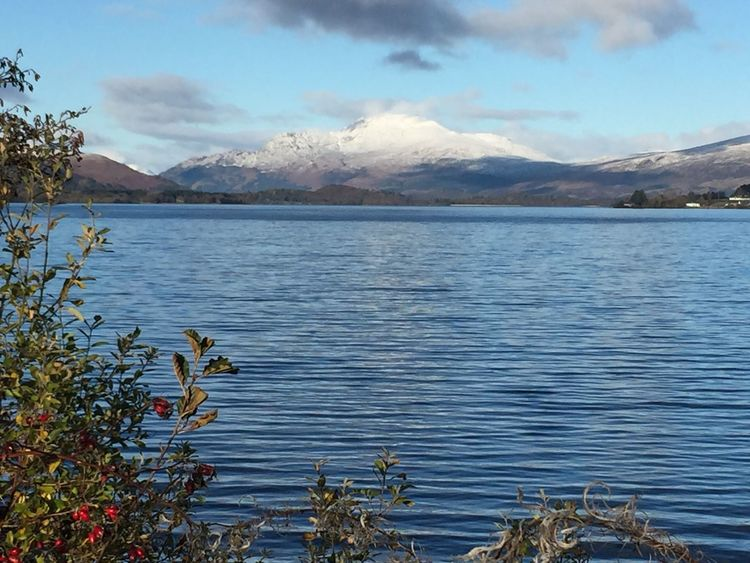 Today In Scotland Snow Is Here Snowcapped Mountain LochLomond Ben Lomond Beauty In Nature Outdoors Day Beautiful Day No People Horizon Over Land No Edit/no Filter IPhoneography Tranquil Scene Rural Scene Landscape