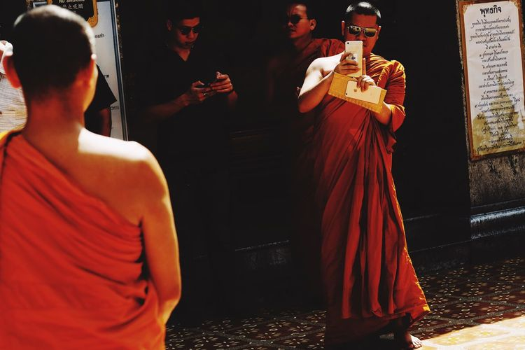 Traditional Clothing Real People Men Standing Performance Indoors  Night Togetherness People Wat Phra That Doi Suthep