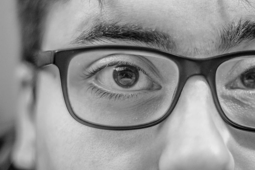 My eye. Human Eye Human Body Part Eyesight Real People Looking At Camera Portrait Eyeball Eyelash Men Vision Close-up Indoors  Eyeglasses  Sensory Perception Human Face Young Men Eyebrow Young Adult Adult