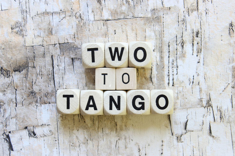 Two to tango Blame Fight Idiom Pair Phrases Share Tea Two To Tangle Two To Tango