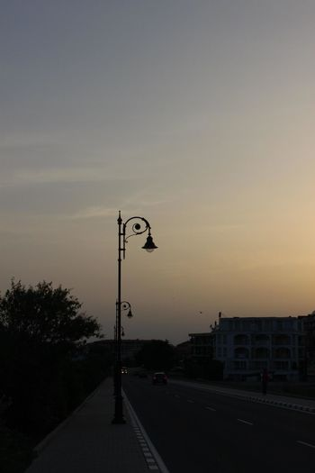 Bolgaria City City Life Cloud Cloud - Sky Diminishing Perspective Empty Lighting Equipment Nature No People Orange Color Outdoors Pole Road Road Sign Sky Street Light Sunset The Way Forward Vanishing Point