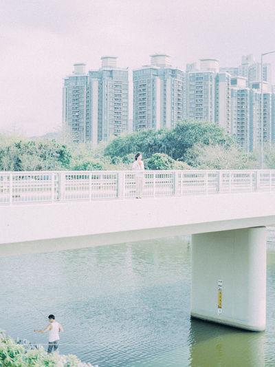 River in city