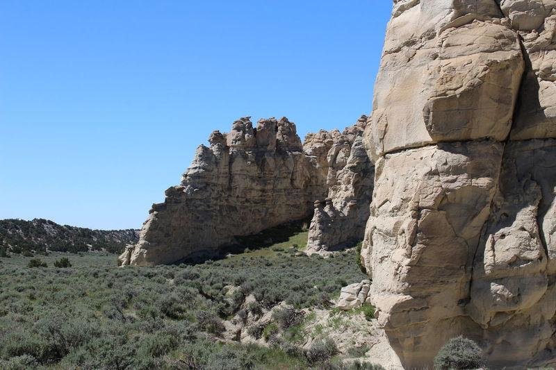 Castle Gardens near Tensleep, Wyoming. Wyoming Erosion Effects Rock Formation Wyoming Landscape Valley Distant Background Sagebrush Juniper Trees