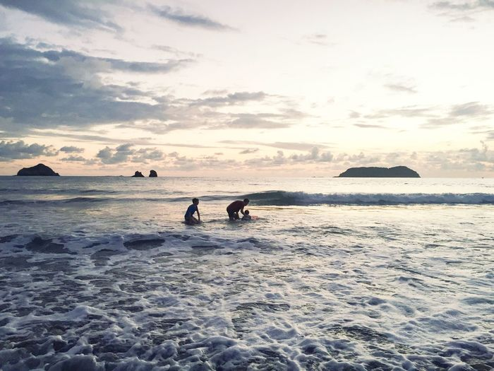 Costa Rica Sunset Beauty In Nature Nature Sea Beach Been There.