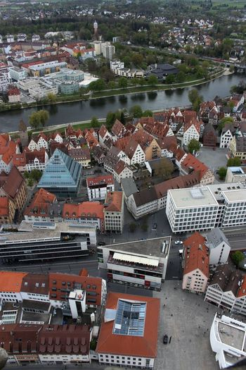 Outdoors High Angle View Large Group Of Objects Building Exterior Water Architecture Canon 700D Bird Angle View High Section Architecture Photography No Filter, No Edit, Just Photography Ulmer Münster Ulm City No People Built Structure Architecture Cityscape Travel Destinations Donau The Architect - 2017 EyeEm Awards Neighborhood Map