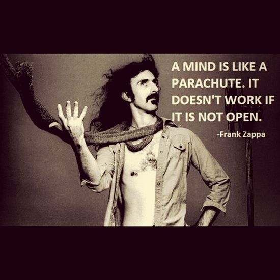 Zappa Free Your Mind Open Your World