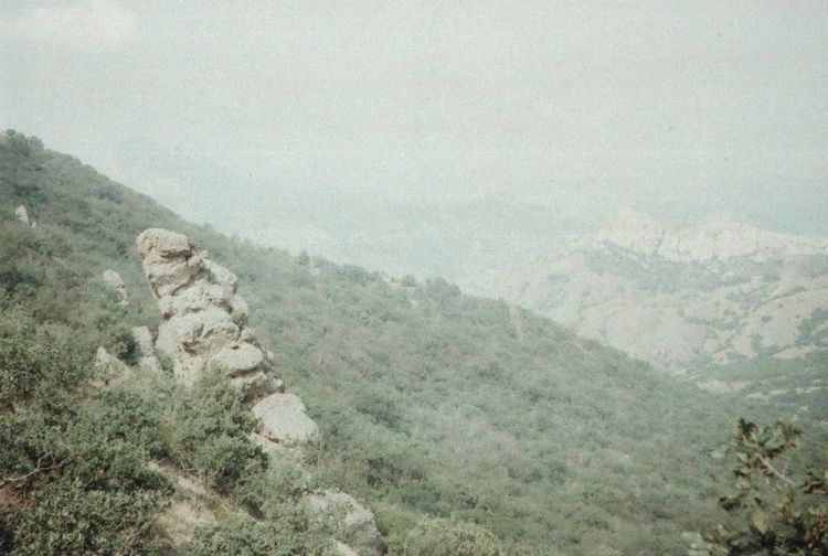 35mm Beauty In Nature Colour Of Life Crimea EyeEm Nature Lover Film Fog Foggy Geology Idyllic Landscape Majestic Mountain Mountain Range Nature No People Outdoors Retro Sky Summer Weather Wildness Zenit