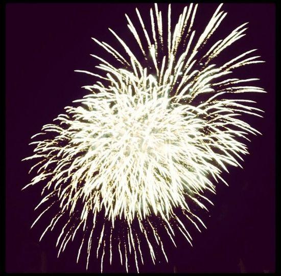 Italy Night Church Patronal Feast Fireworks Light