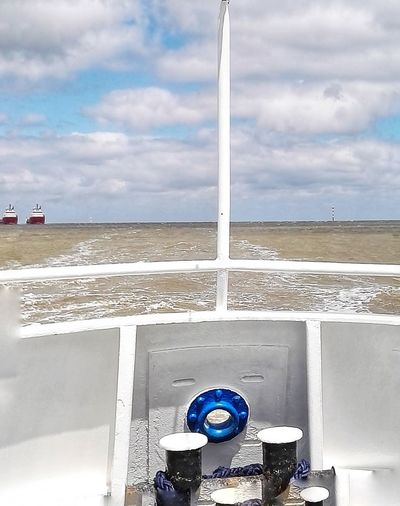 No People Sightseeing Tour Sea And Sky Boat Deck Nautical Scene Silence Moment Shipping Boat Nordsee... No Land In Sight Cloud - Sky Water Sky Outdoors Sea