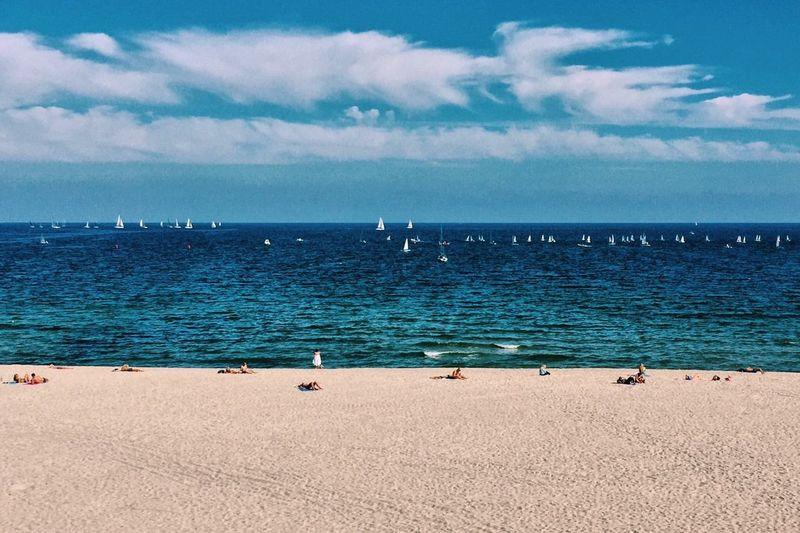 Sand Bulgaria Varna Black Sea Ultramarine Blue Sea Sky Water Cloud - Sky Horizon Over Water Scenics Beauty In Nature Beach Day Large Group Of Animals Tranquil Scene Nature
