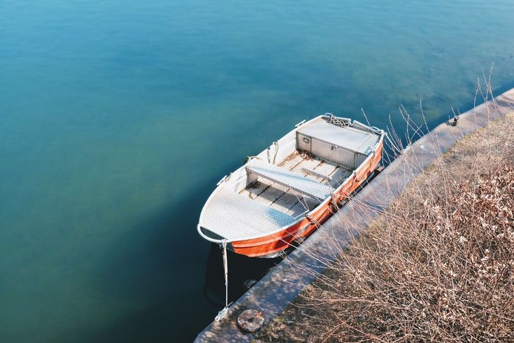 EyeEm Selects Water High Angle View Nautical Vessel Sea Day Nature Rowboat
