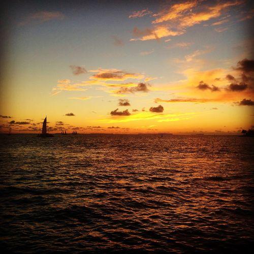 Another amazing Key West sunset Key West Sunset Skyporn Travel Mallory Square