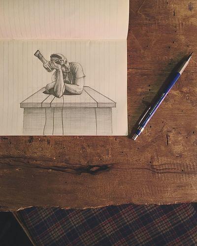 Blowdryer Dadbeh Sketch ArtWork Konjcafe