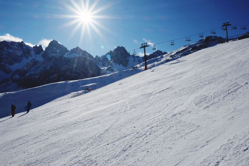 People Skiing On Sunny Day