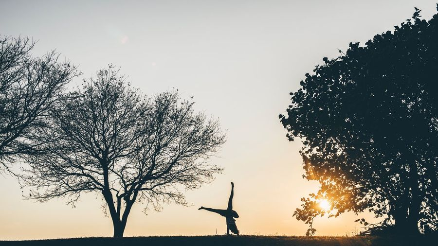 Have fun with it Sunset Silhouette Nature Landscape Beauty In Nature Sky Tree One Person Outdoors Scenics EyeEm Best Shots EyeEm Nature Lover EyeEm Gallery EyeEm EyeEm Best Edits EyeEmBestPics EyeEm Best Shots - Nature Eyeemphotography Eyeemphoto Lost In The Landscape Lost In The Landscape