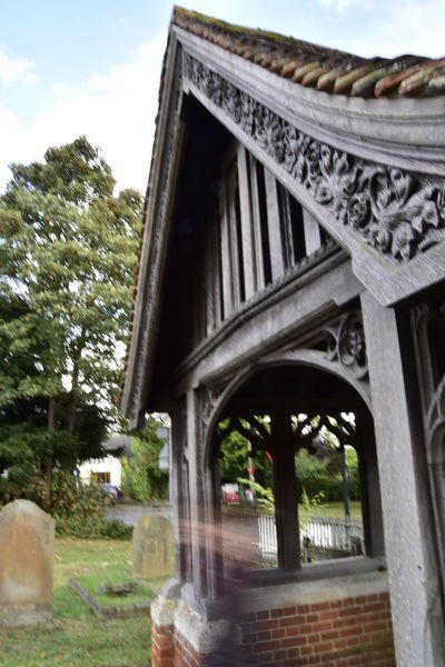 Architectural Column Architecture Built Structure Church Day Earls Colne Essex Ghost Ghostly Apparition Halloween Haunted No People Outdoors Sky Spirits Tree