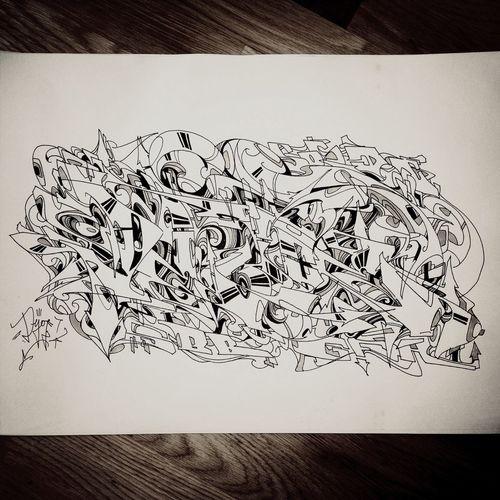 Monochrome Dejoe  Graffiti Drawing