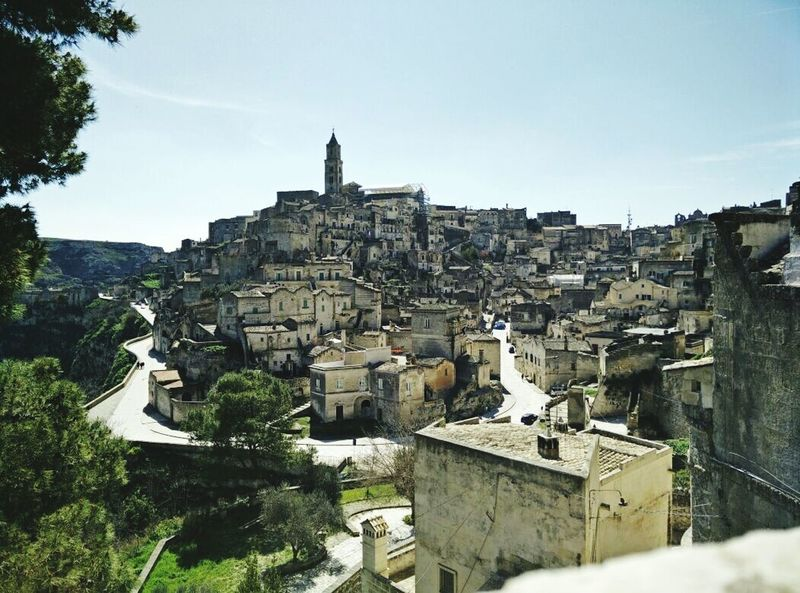 The view of Sassimatera, Matera in Italy . Architecture, Landscape