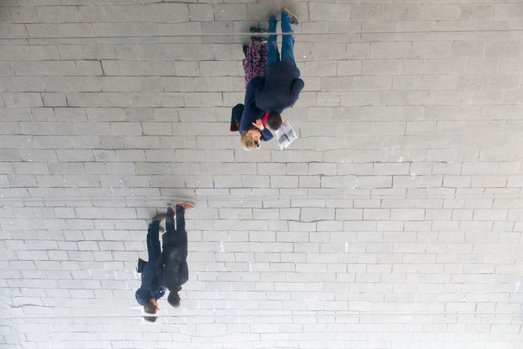Day Hanging Around Hanging Down Looking Up Marseilles Mirror Roof People Photo Reflection Upside Down People