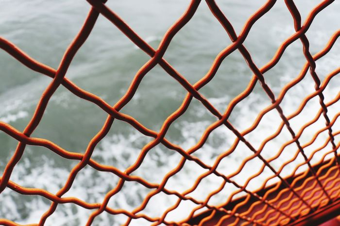 Staten Island Ferry Sea New York EyeEm Selects Pattern Full Frame No People Close-up Sport Protection Security Backgrounds Fence Day Safety Boundary Metal Barrier Nature Net - Sports Equipment Outdoors Winter Chainlink Fence Cold Temperature