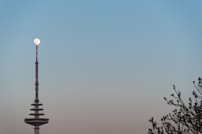 Architecture Clear Sky Communication Day Hoffi99 Moon And Trees Nature No People Outdoors Radio Tower Sky Art Is Everywhere