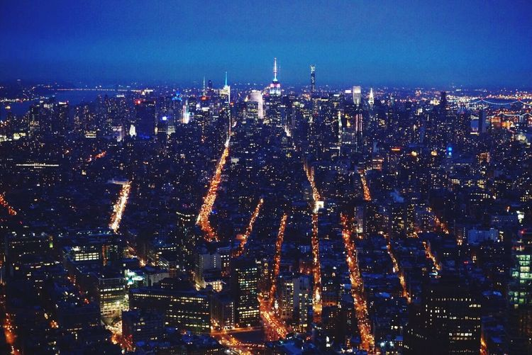 Home New York City Manhattan See Forever Skyview Cityscapes Sunset City Lights