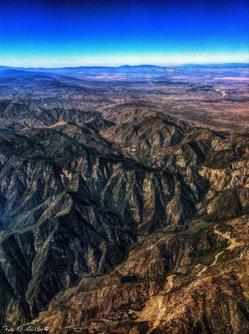 A view from the plane today a bit east of Ontario California Plane Shots
