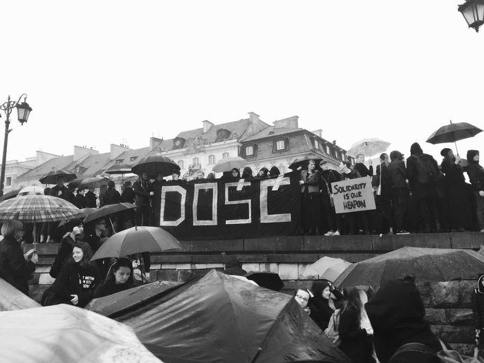 """""""Enough"""" BlackMonday Blackprotest Warsaw Poland Womansolidarity Dziewuchydziewuchom Czarnyprotest CzarnyPoniedzialek"""