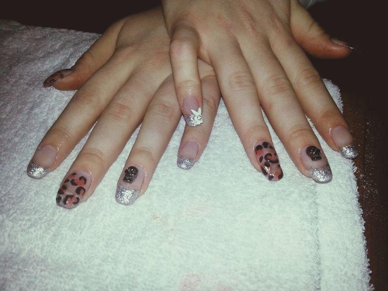 fixade Alexandras naglar igår:) Nails Acrylic Nails Lepard