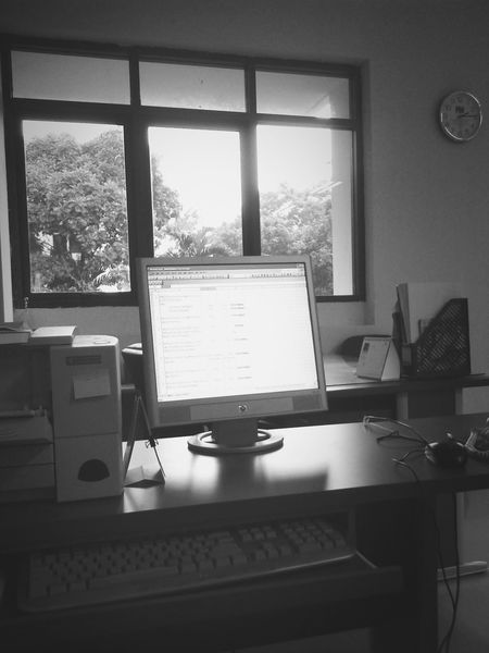 Office Work Black And White Home Work