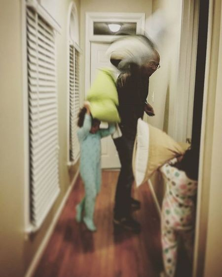 Let the nightly pillow fight commence! TeamPinnock Shootyourlife Unforgettableinstagram Daddysgirls Dadlife Lovemylife