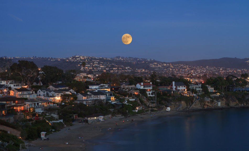 Super moon over Laguna Beach, California, United States California Full Moon Laguna Beach, CA Moon Moon Moonrise Night No People Ocean Outdoors Sky Supermoon United States