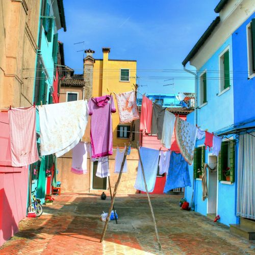 Burano, Italy Clothing Colors Drying HDR HDR Collection Laundry Multi Colored Rob Handgraaf Fotografie Washing