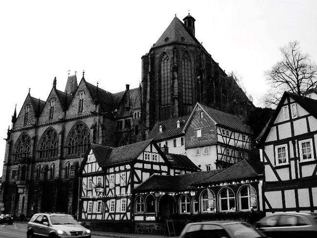 Marburg Marburg An Der Lahn Altstadt Oldtown Cityscapes Deutschland Germany Streetphoto_bw Blackandwhite Black And White